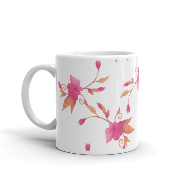 Colorful Pink Leaves Coffee Mug