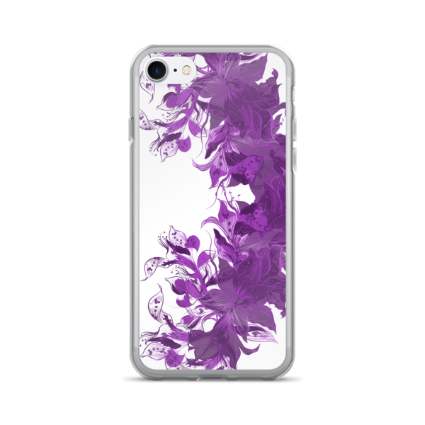 Purple Floral iPhone 7 Plus Case