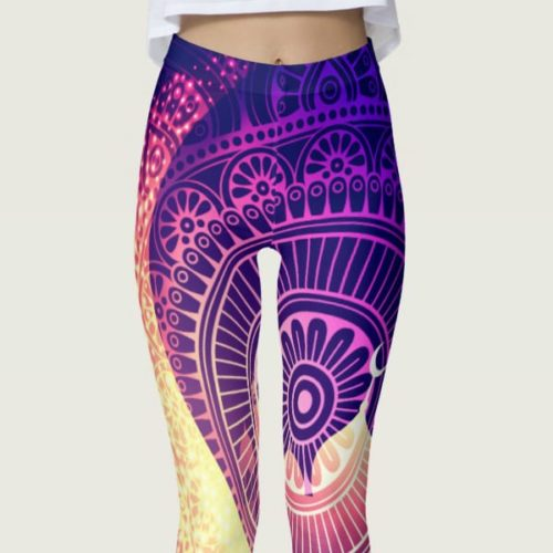Dreamy Moonlit Yoga Leggings