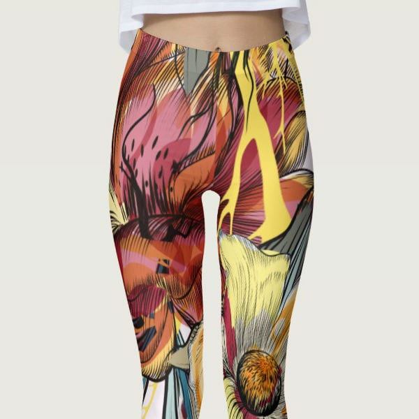 Floral Painted Chaotic Splash Women's Leggings