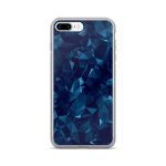 Blue Dark Geometric Mesh iPhone 7/7 Plus Case