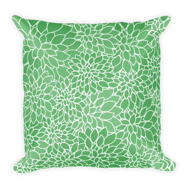 Abstract Leafy Green Pillow