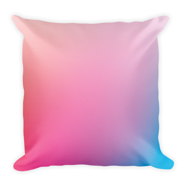 Gradient Pink and Blue Square Pillow