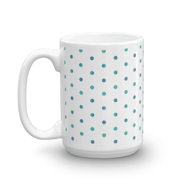 Watercolor Polka Dot Mug