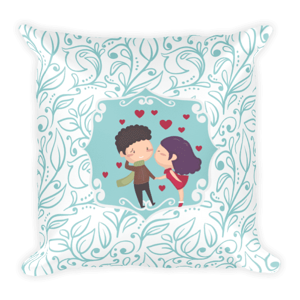 Kiss Me Love Square Pillow