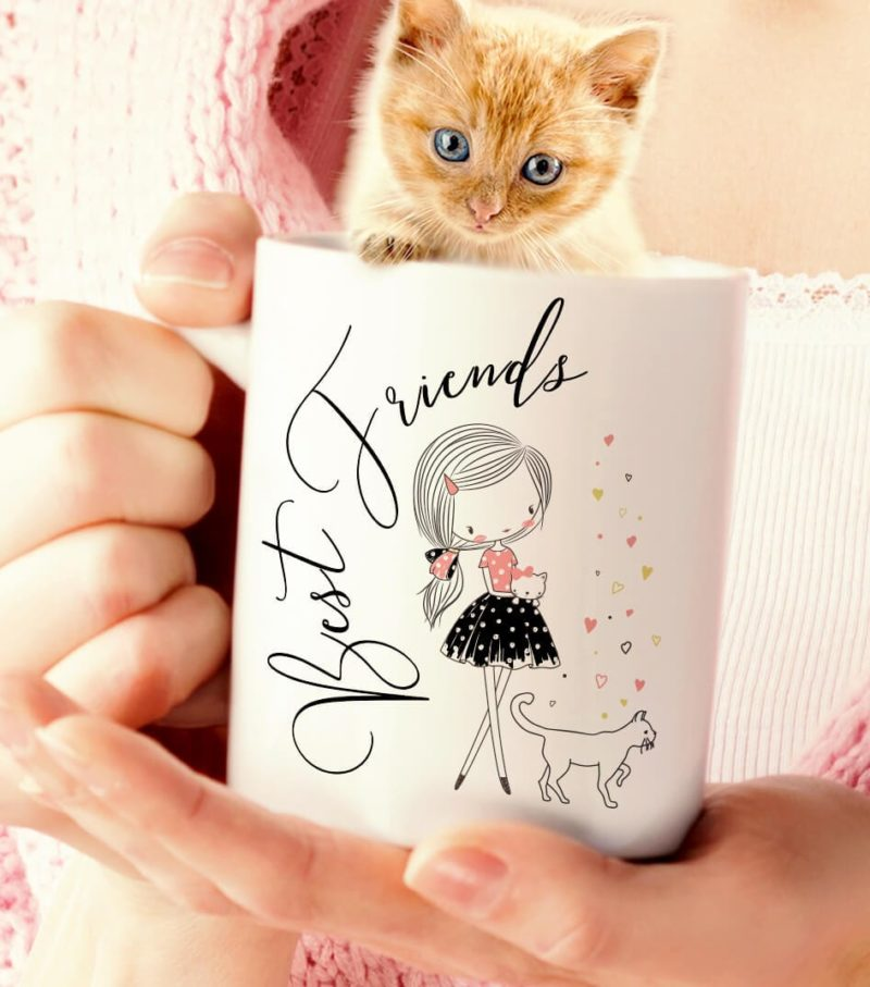 Cat Lovers Gifts, Best Friends Cat Mug, Cat Lady Mug, Valentine Cat Mug, Kitten Coffee Mug, Cat Coffee Mug