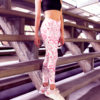 Pink Sphynx Cat Tattoo Printed Leggings