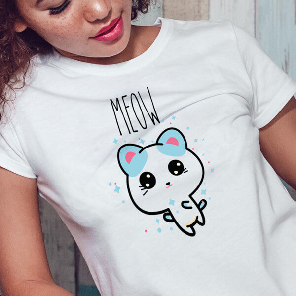 cute cat shirt meow