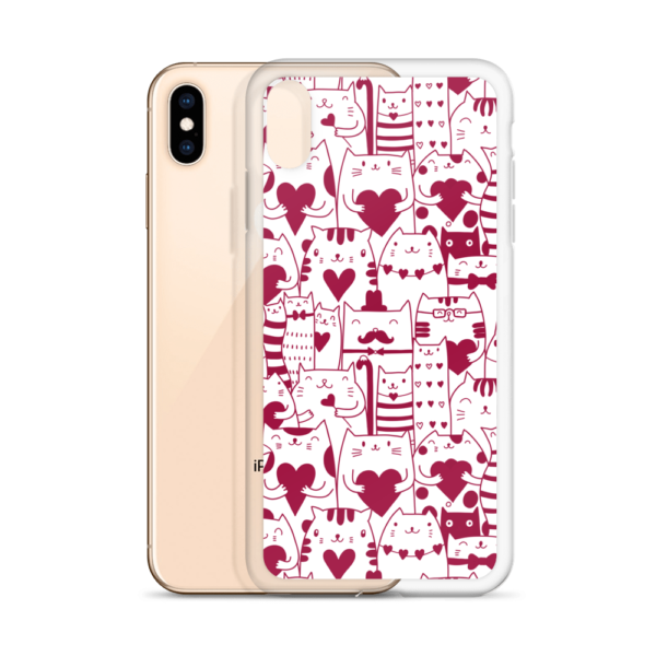Valentine Meow Love Kittens iPhone Case - Cat Lover Gifts