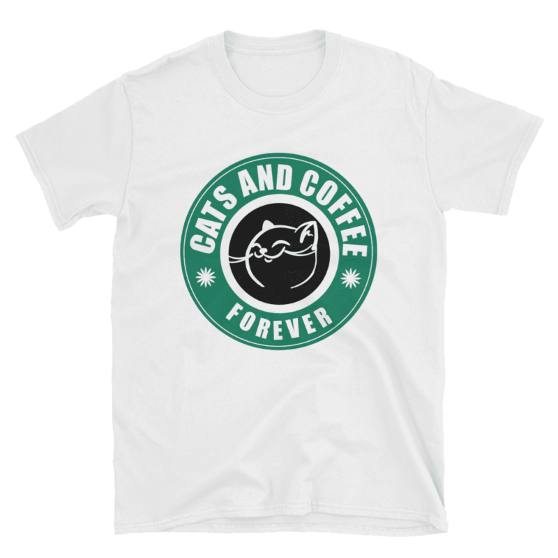 Cats and Coffee Forever T-Shirt