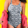 Skulls and Roses One Piece Swimsuit