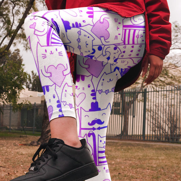 Fun Multi-Cats Pattern Leggings