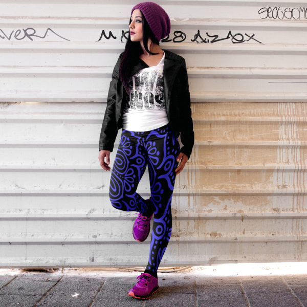 Noir Crush Mandala Leggings
