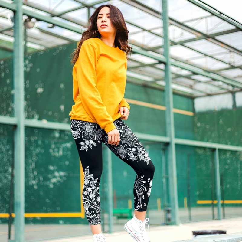 Bohemian Floral Lace Yoga Leggings