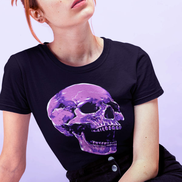 Screaming For You Purple Skull T-Shirt