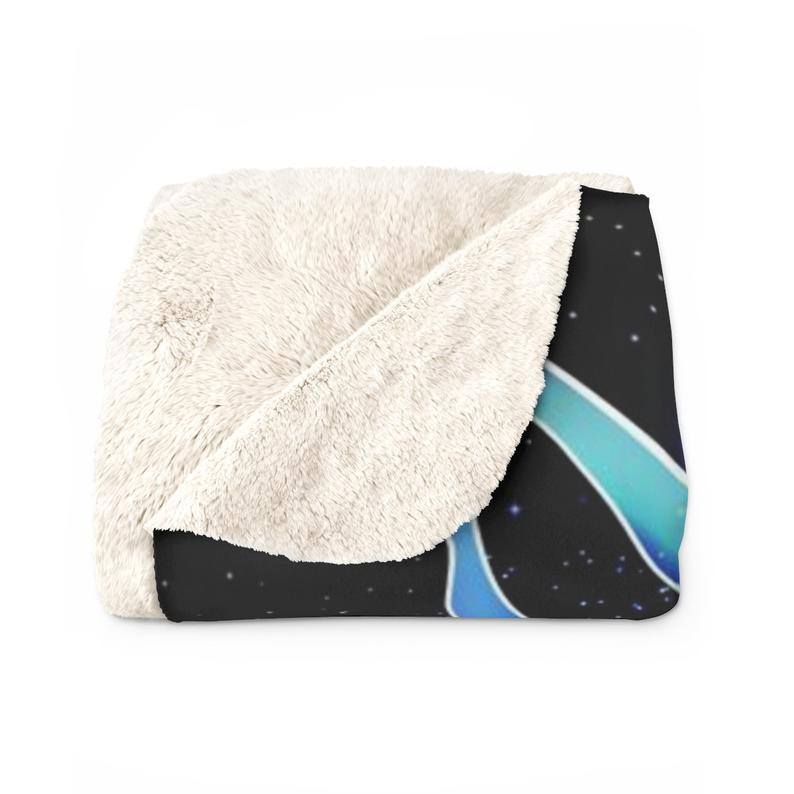 Celestial Sphynx Cat Fleece Blanket