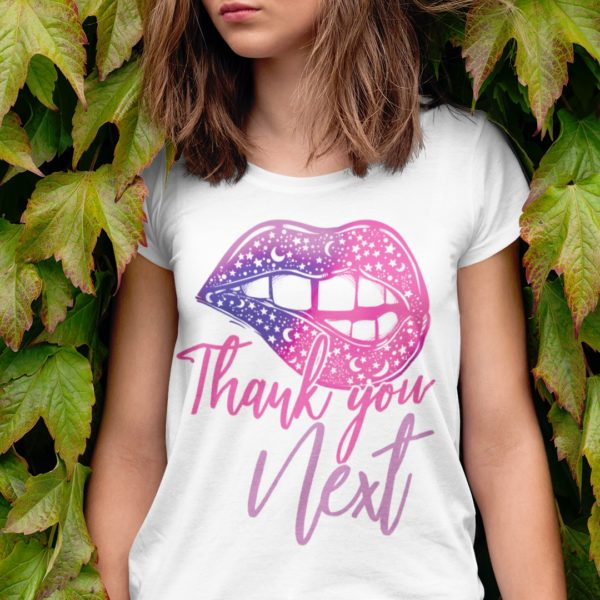 Thank You Next Pretty Lips Short-Sleeve Unisex T-Shirt